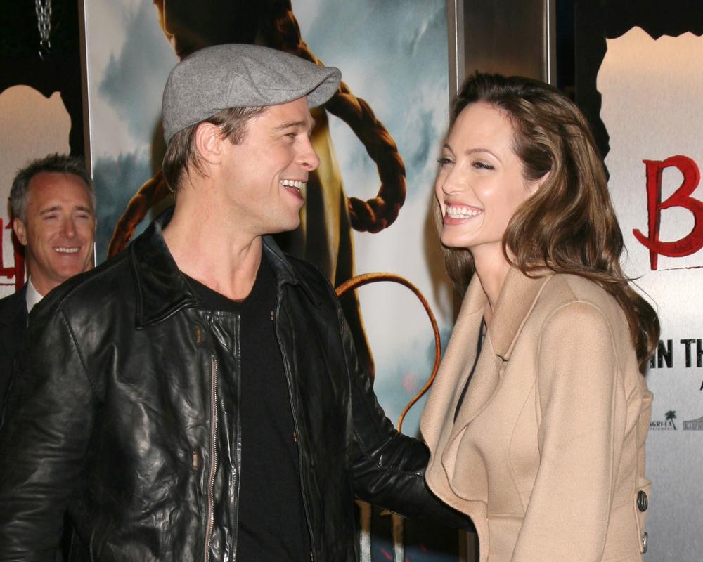 Брэд Питт с бывшей женой, актрисой Анжелиной Джоли