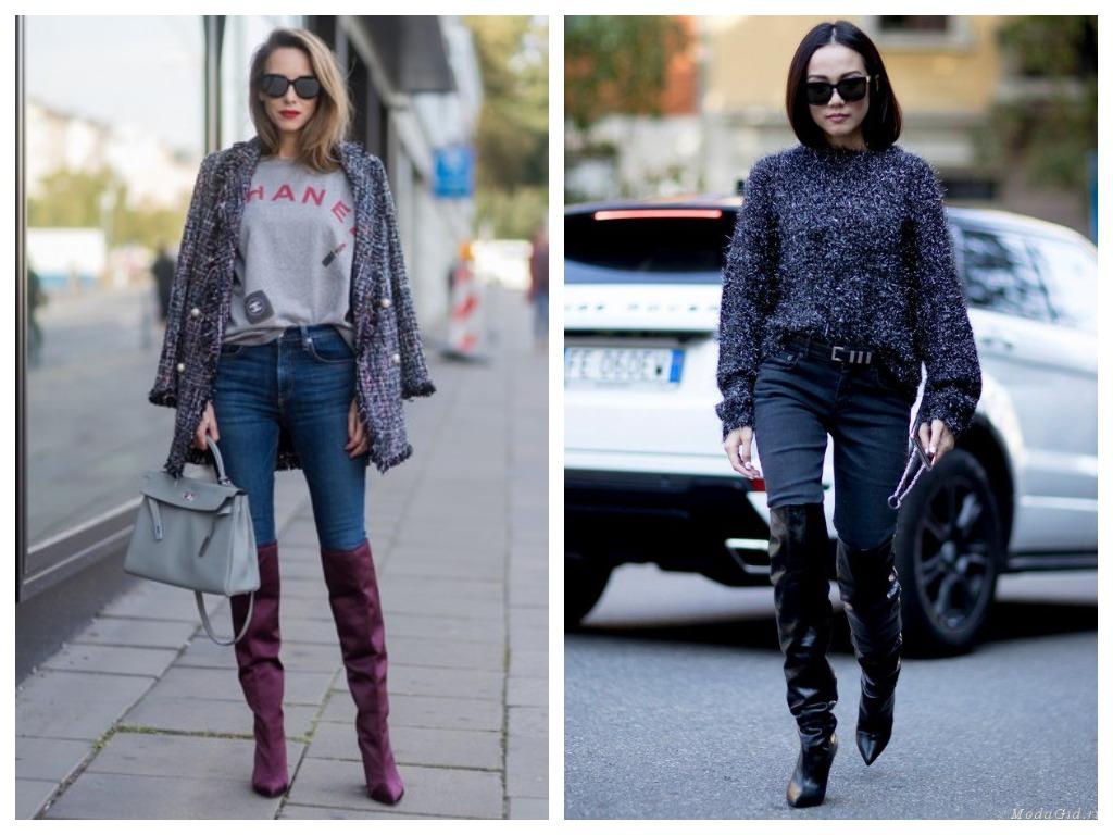 С сочетанием джинсы+ботфорты будьте предельно острожны