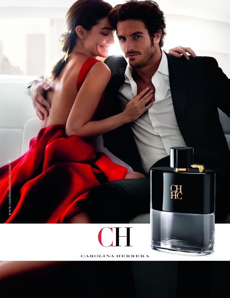 Модель Лили Олдридж и актер Джастис Джослин в рекламной кампании аромата CH от Carolina Herrera