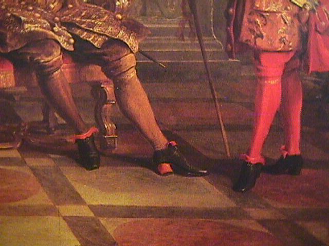 Красный каблук, XVIІІ век