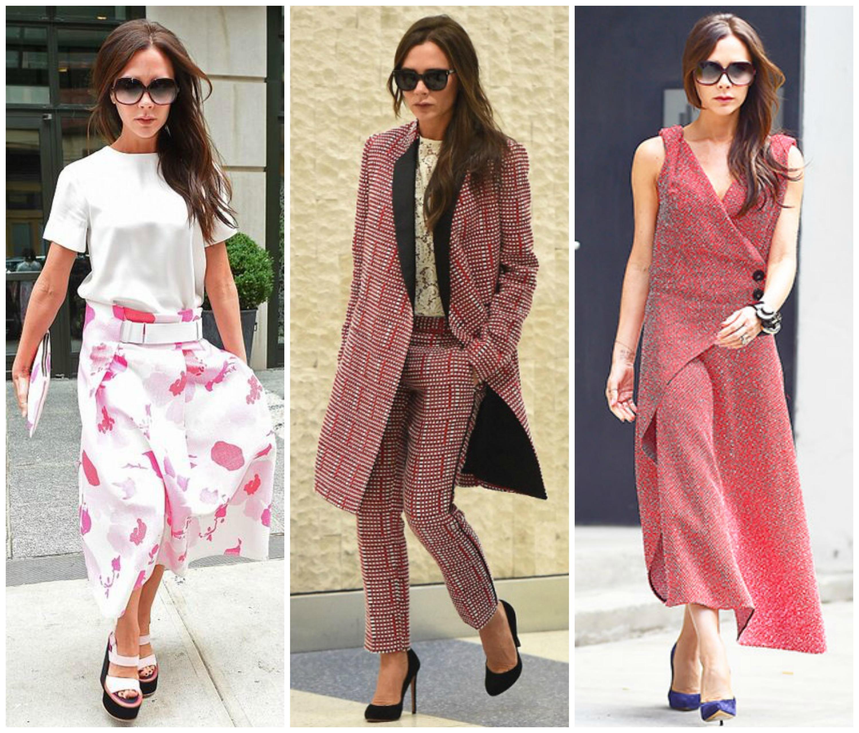 Дизайнер Виктория Бекхэм примерила наряды из своей круизной коллекции 2016