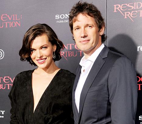Мила Йовович с мужем