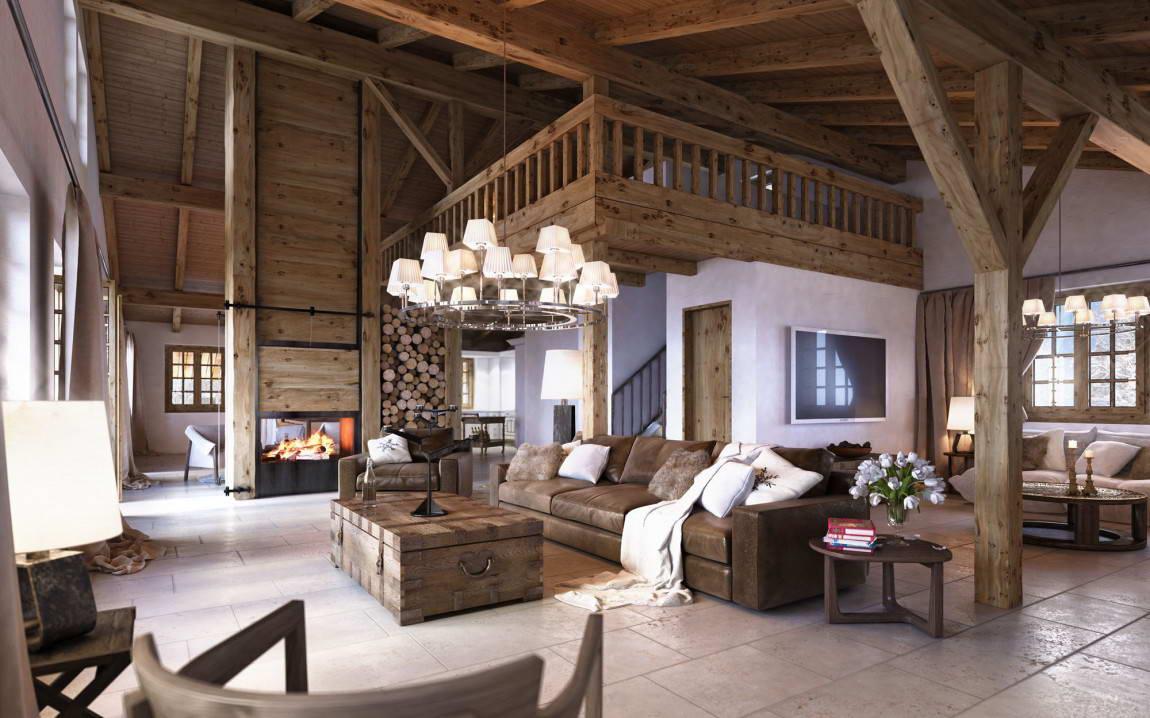 Как сделать альпийские Отделка внутри частного дома фото