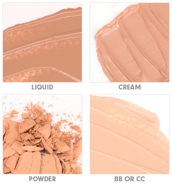 Виды тонального крема: полупрозрачный, кремообразный, пудра и ВВ/СС