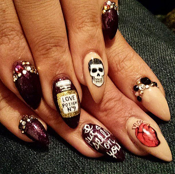 Идеи для маникюра на Хэллоуин 2015