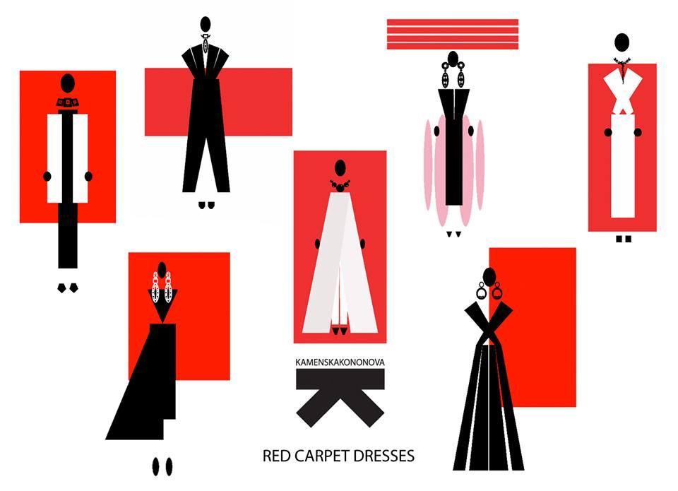 Эскизы коллекции Red Carpet Dresses by KAMENSKAKONONOVA