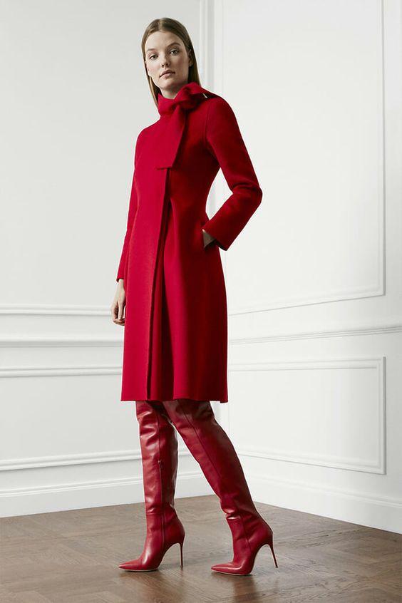 Осенний образ: пкрасное пальто и споги