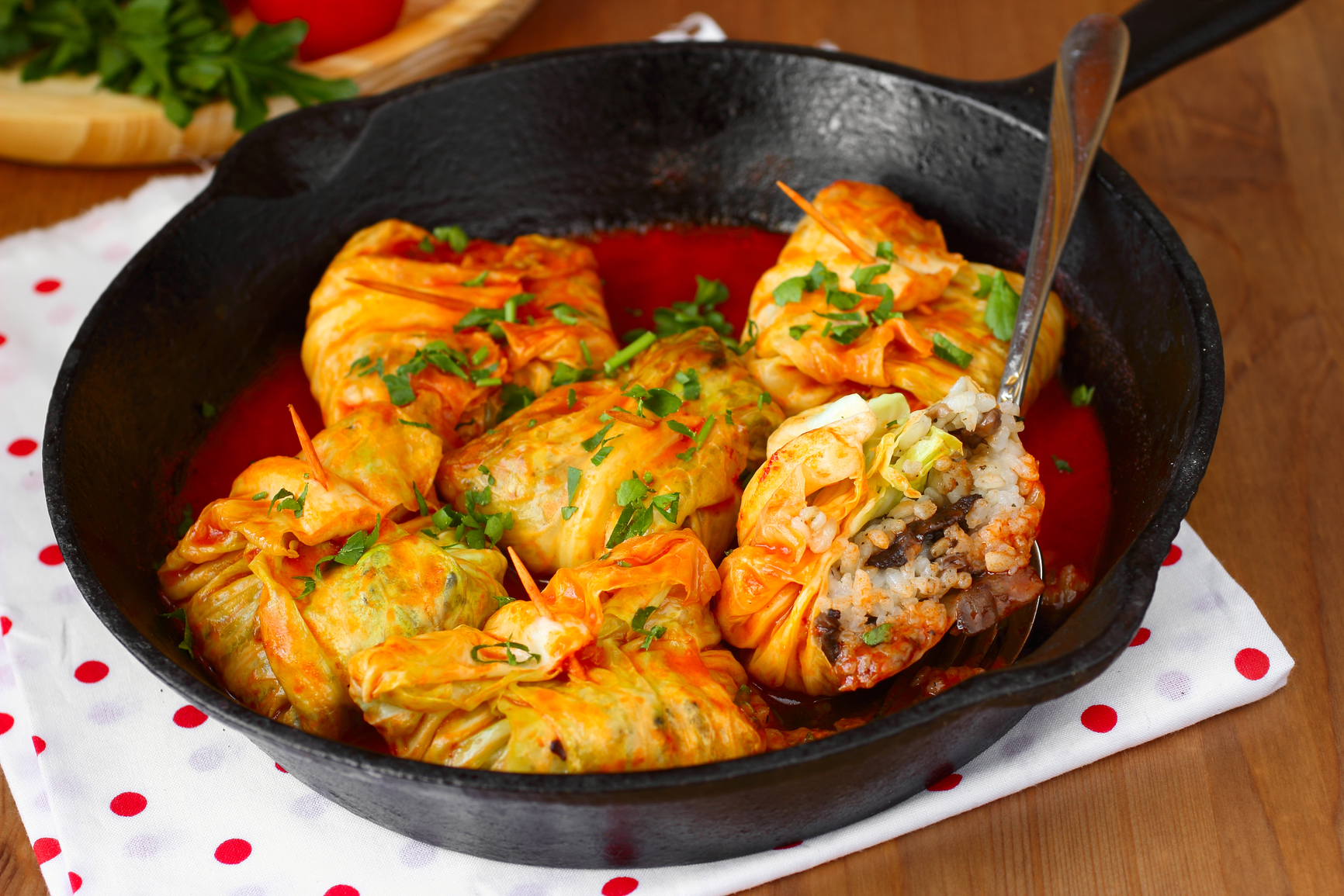 Голубцы в сливочном соусе в духовке рецепт