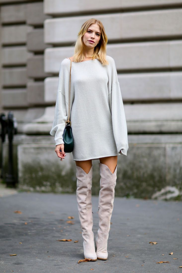Обязательные платья на зиму 2019/20: Платье-свитер