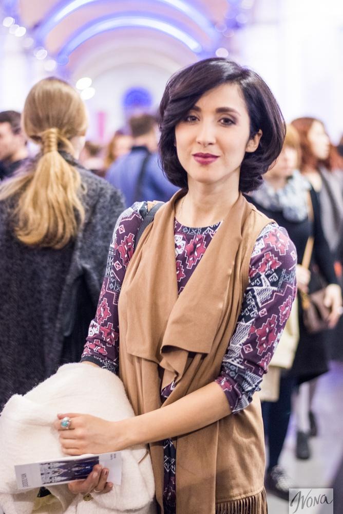 Анна Завальская на Неделе моды в Украине