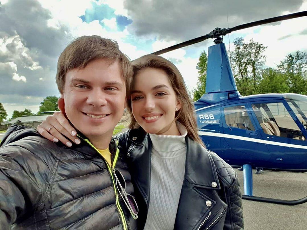 Дмитрий Комаров отправился в экспедицию со своей женой