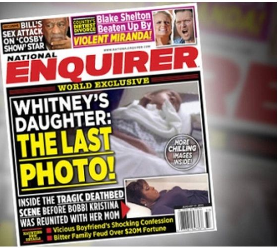 Последнее фото дочери Уитни Хьюстон появилось на обложке журнала