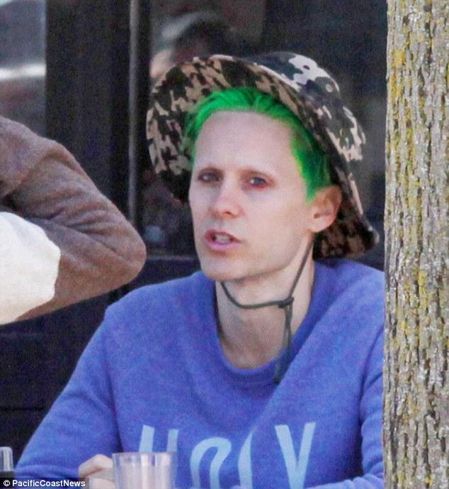 Джаред Лето покрасил волосы в зеленый цвет