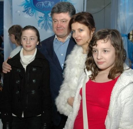 Перт Порошенко с женой и дочерьми