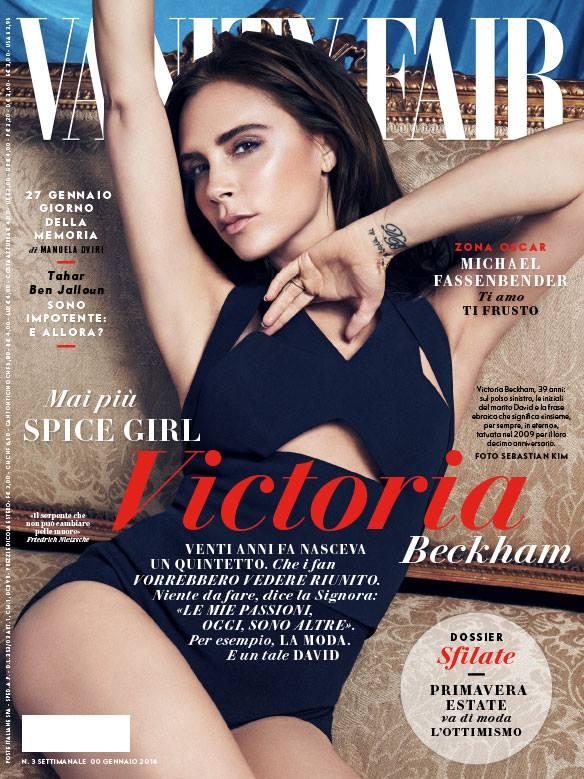 Дизайнер Виктория Бекхэм на обложке Vanity Fair Italia
