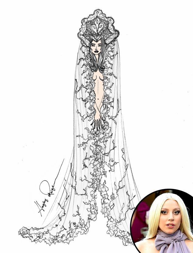 Дизайнеры не сомневаются, что певица Lady Gaga появится в чем-то неординарном