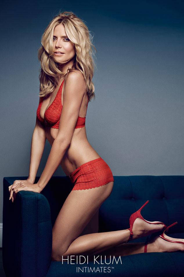 Модель Хайди Клум в сексуальной рекламной кампании