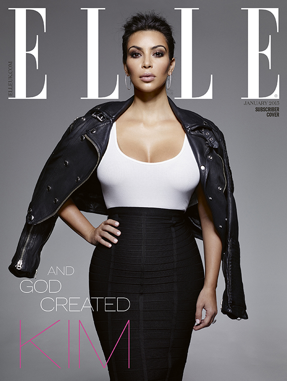 Стилисты создали для Ким три стильных образа в монохроме