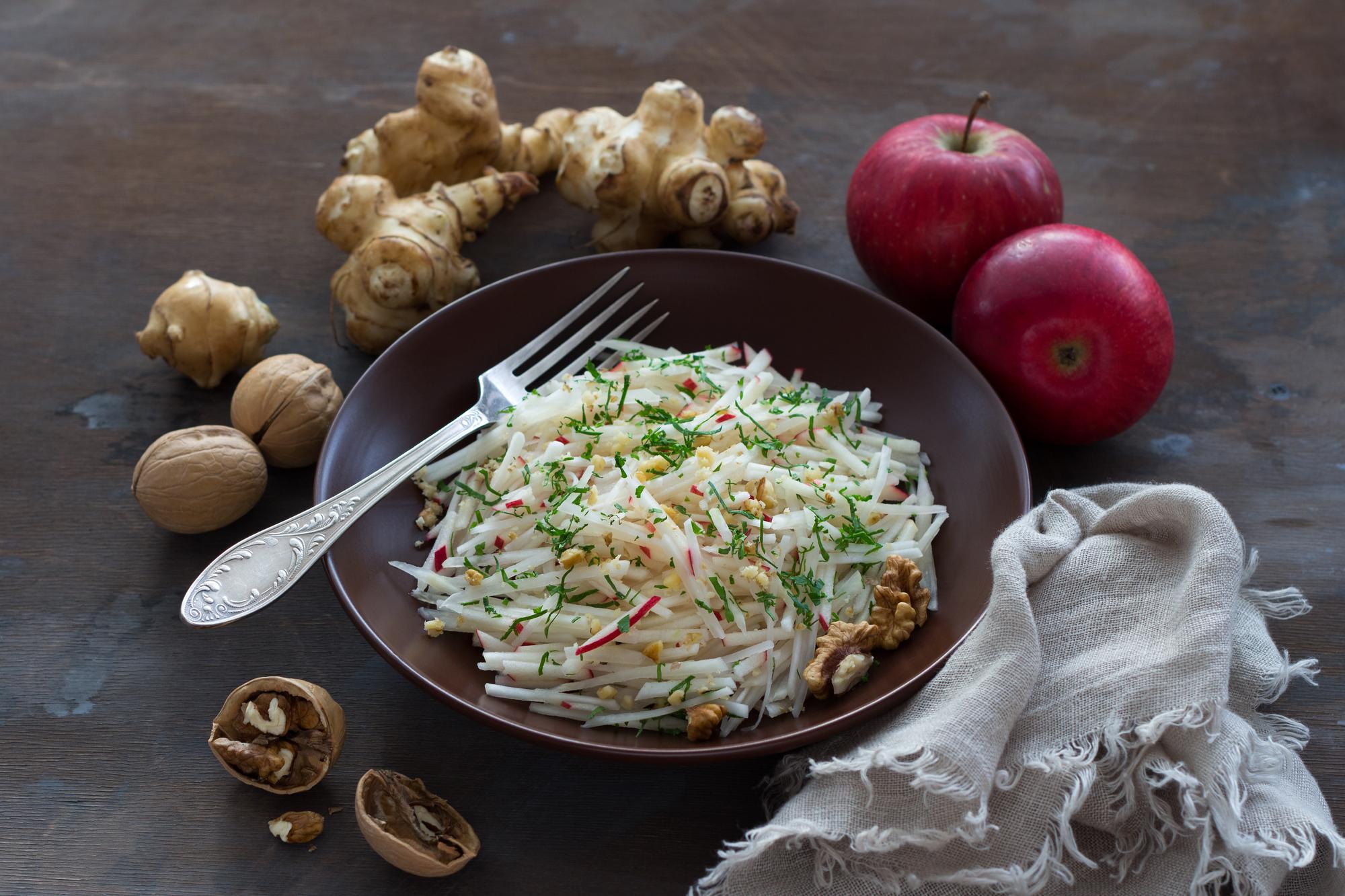 Полезный рецепт: салат с тофу и топинамбуром