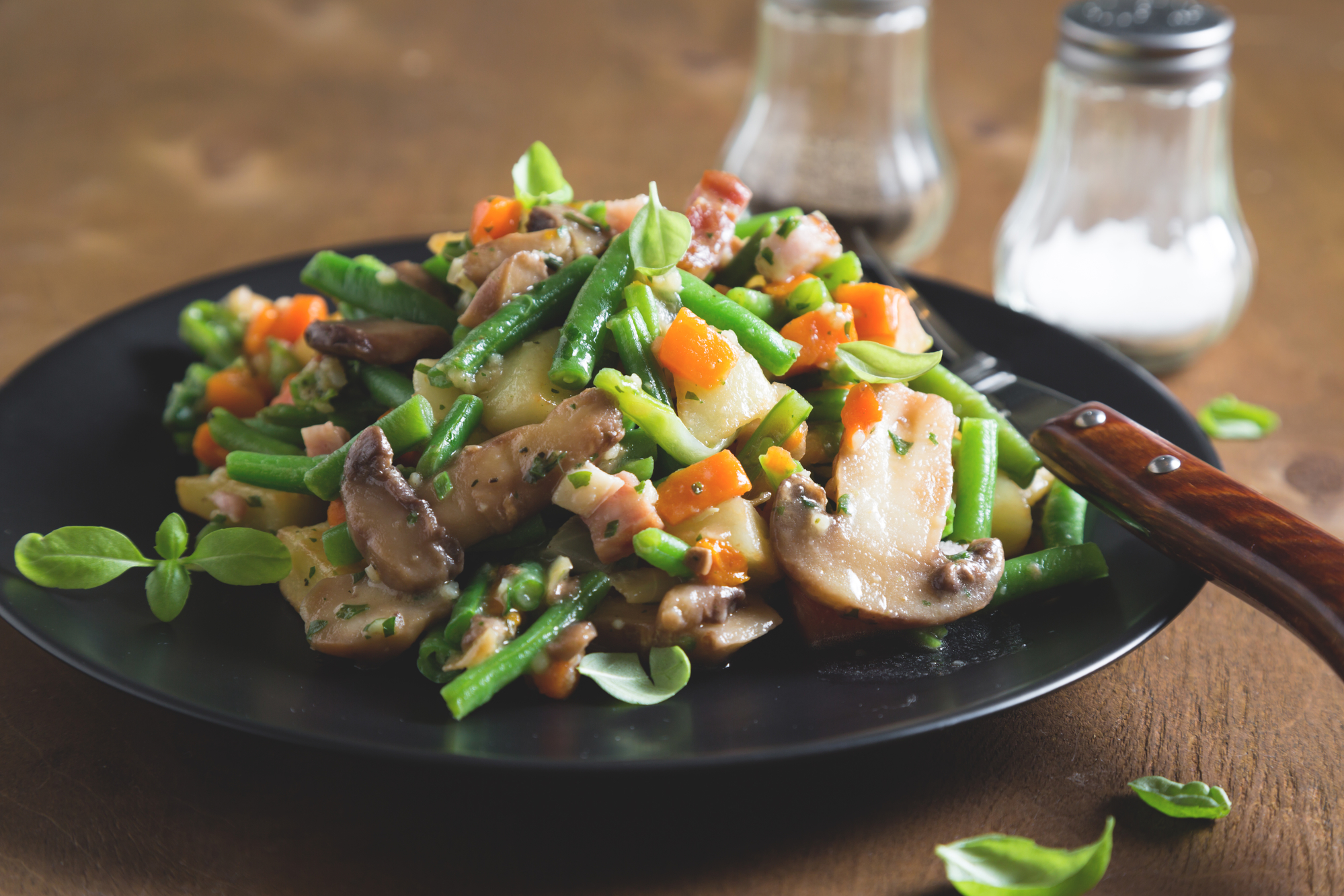 Диетическое меню: грибное рагу с овощами