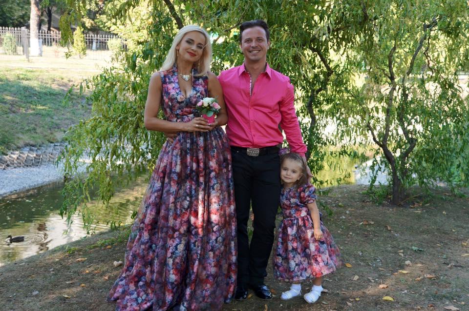 Лилия Ребрик с мужем Андреем Диким и их дочкой Дианой