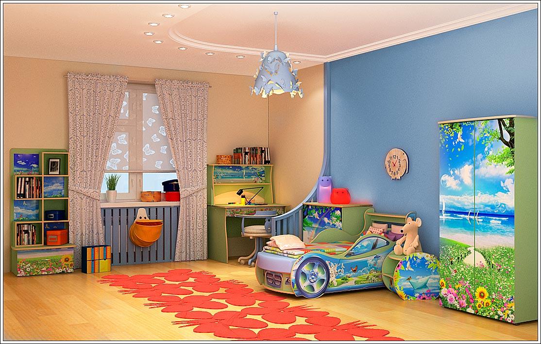 Как оформить лучше всего стены в детской комнате Подборка