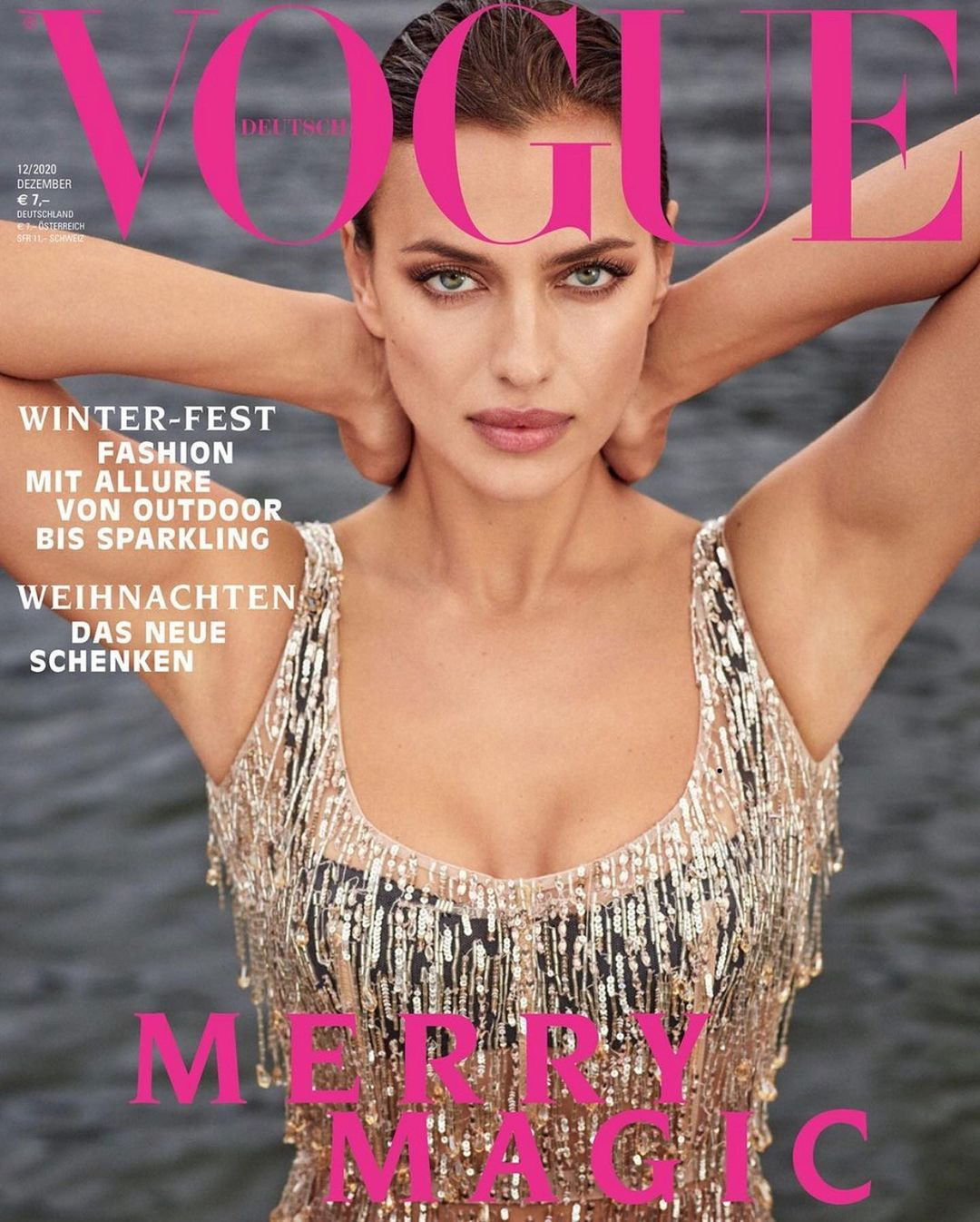 Сексуальная Ирина Шейк украсила обложку немецкого Vogue