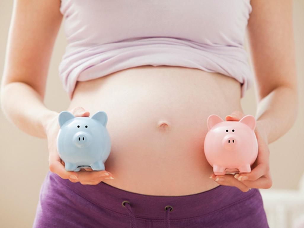 Фото девушки беременной двойней