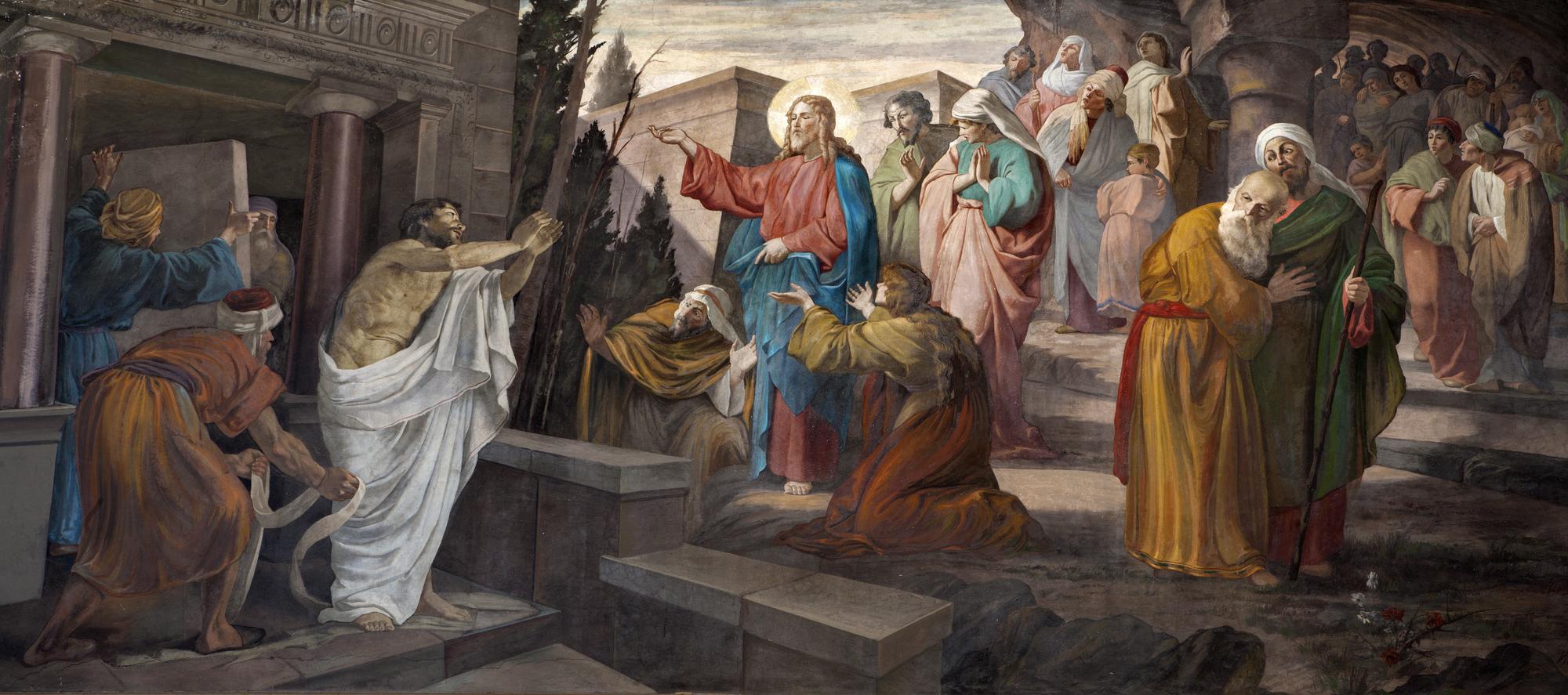 Милан - Воскрешение Лазаря от церкви Сан-Джорджо