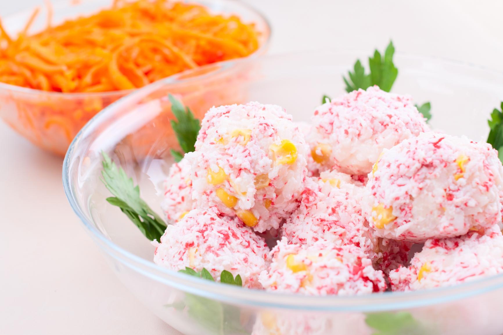 Закуска Рафаэлло из крабовых палочек  вкусный рецепт с