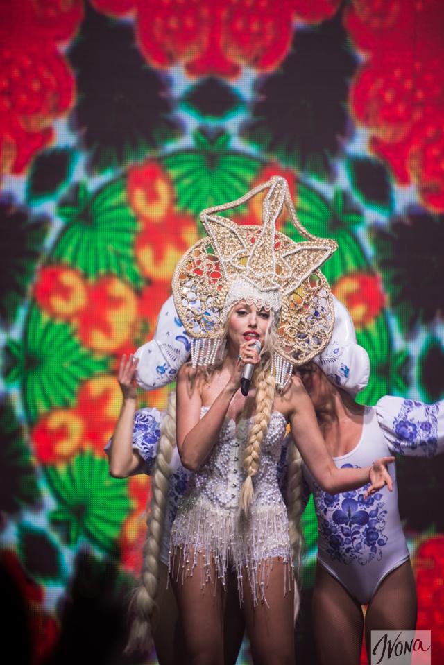 Украинская певица Оля Полякова на конкурсе красоты Miss Blonde Ukraine-2015