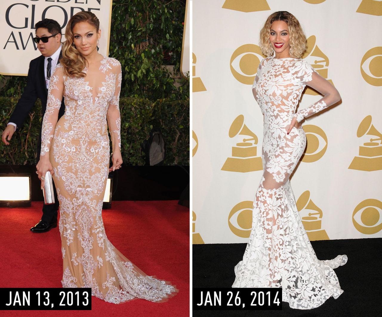 Певицы не могут поделить прозрачные наряды от именитых дизайнеров