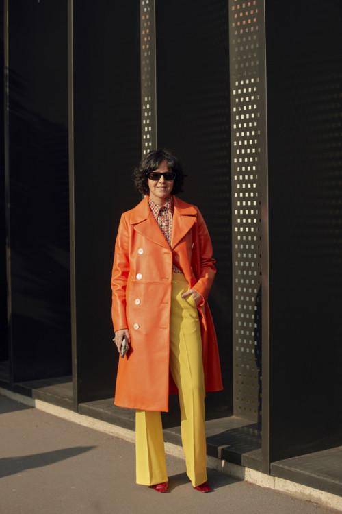 Модные образы гостей Недели моды в Милане