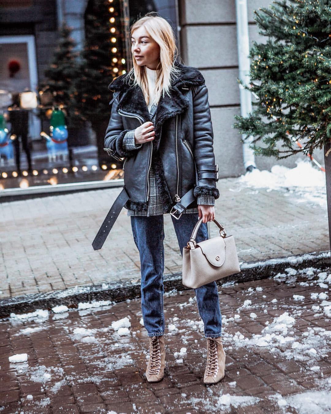Стильная верхняя одежда на зиму 2019-2020: дубленка