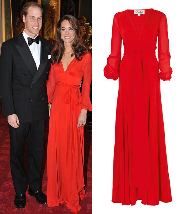 Красное платье от Beulah Кейт Миддлтон надела на вечер Hedge Funds Gala