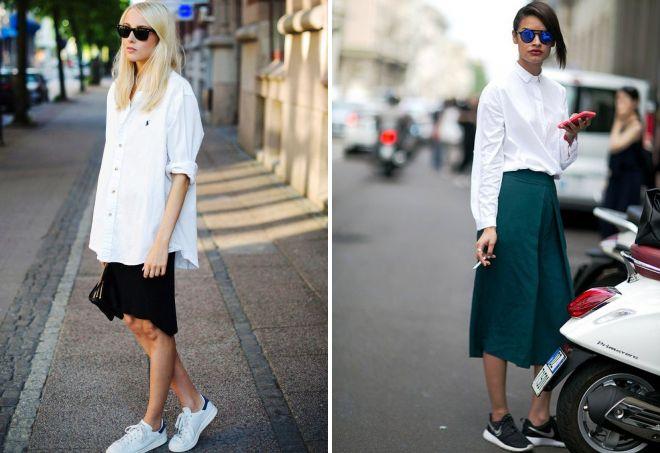 С кроссовками рубашка оверсайз становится абсолютно уникальным предметом гардероба