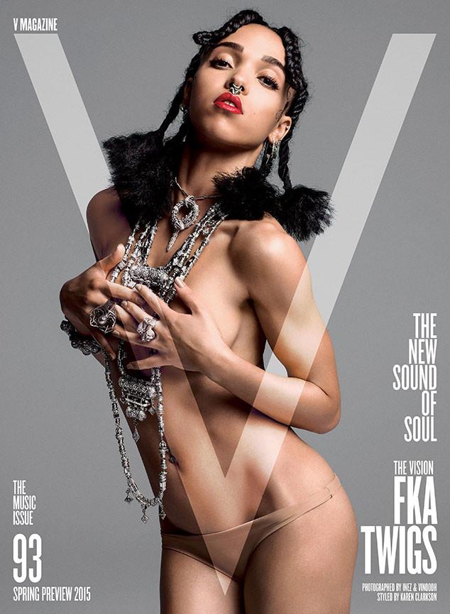 Певица FKA Twigs обнажилась для обложки журнала  V Magazine
