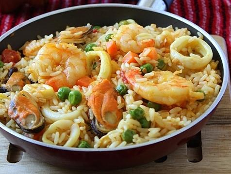 Рис с морепродуктами рецепт пошагово с фото