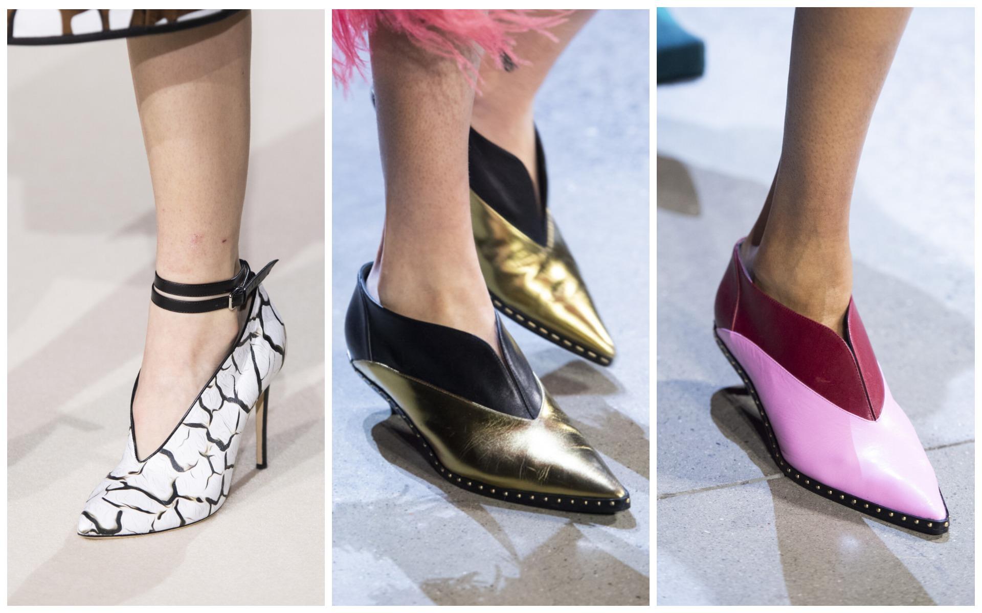 V-образный вырез на обуви - не новая тенденция, но очень интересная