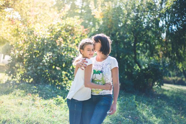 Катя с дочкой Полиной