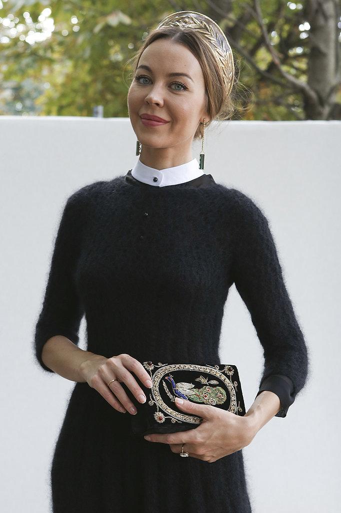 Российский дизайнер Ульяна Сергеенко обожает аксессуары в национальном стиле