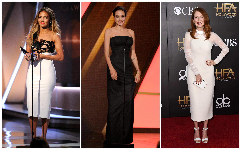 Звездные красотки украсили красную дорожку Hollywood Film Awards 2014