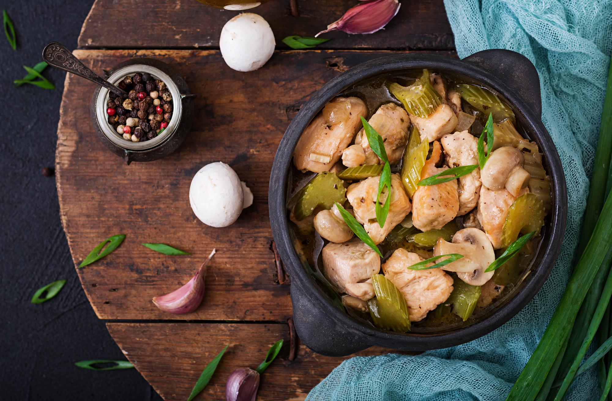 Кухни мира: грибное соте с курицей по-турецки