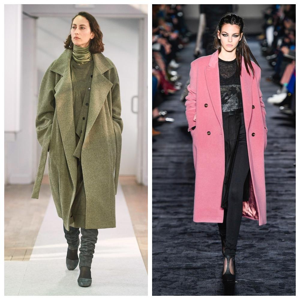 Пальто должно быть хоть и классического кроя, но яркого оттенка
