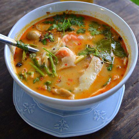 Тайский суп Том ям с морепродуктами в домашних условиях