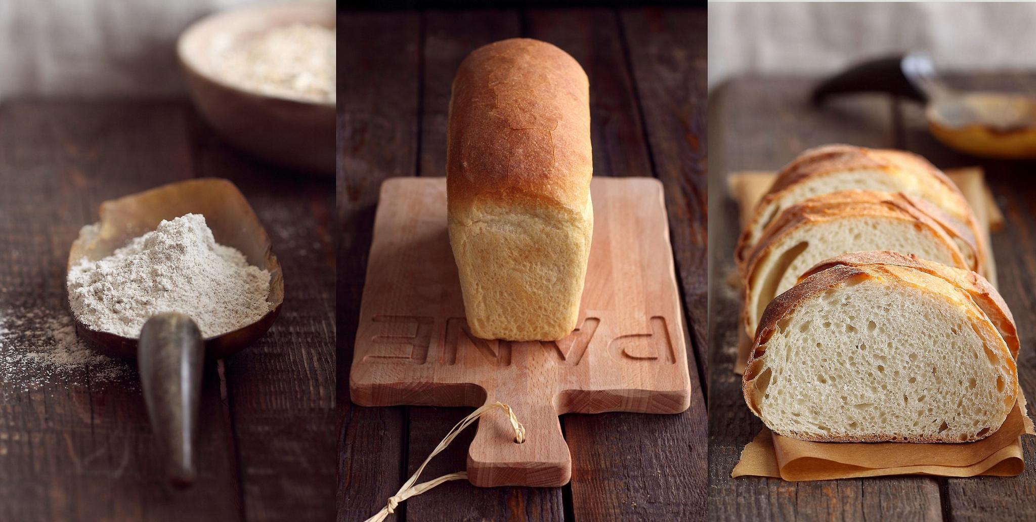 В хлебе из обычной муки много углеводов