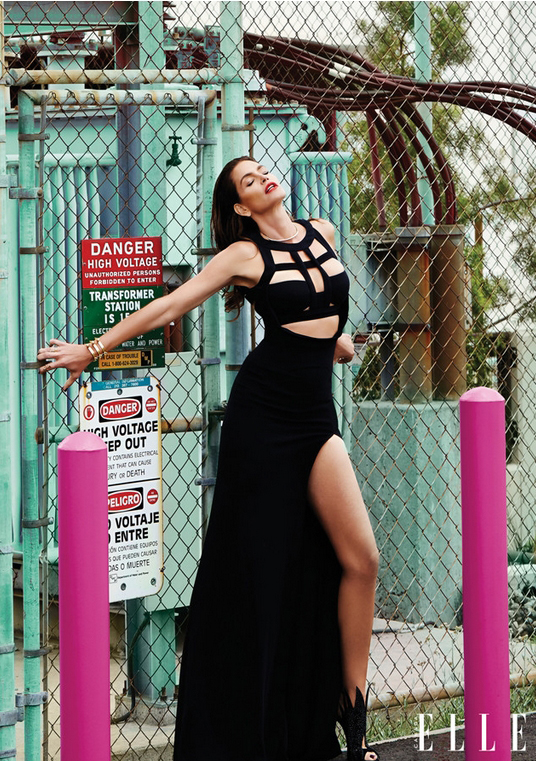 Модель Синди Кроуфорд на страницах Elle Canada