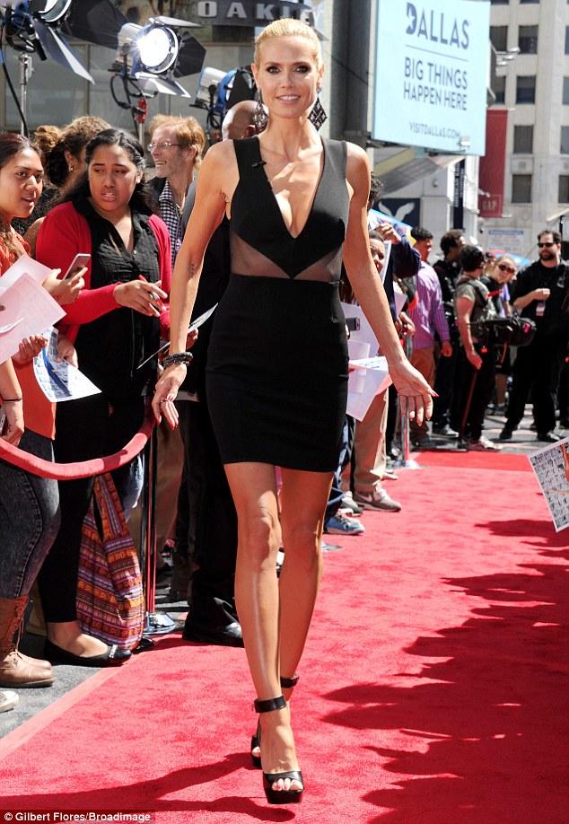 Хайди Клум в платье от Cushnie et Ochs
