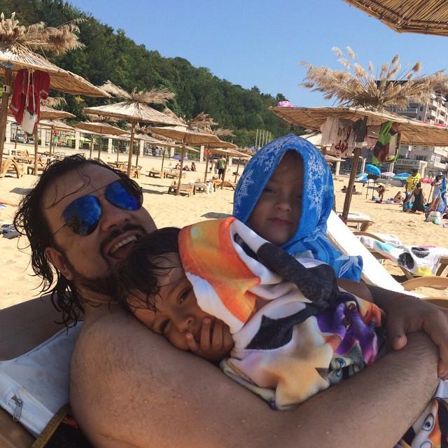 Филипп Киркоров со своими детьми: Аллой-Викторией и Мартином