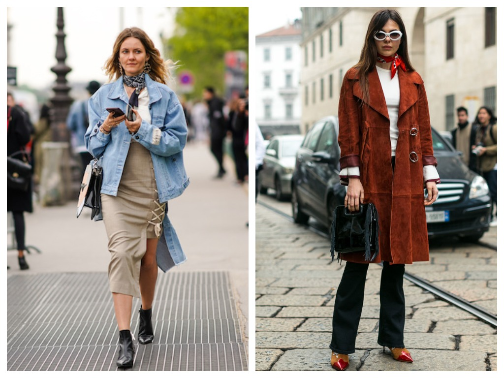 Модные способы как завязь шарф - как шейный платок